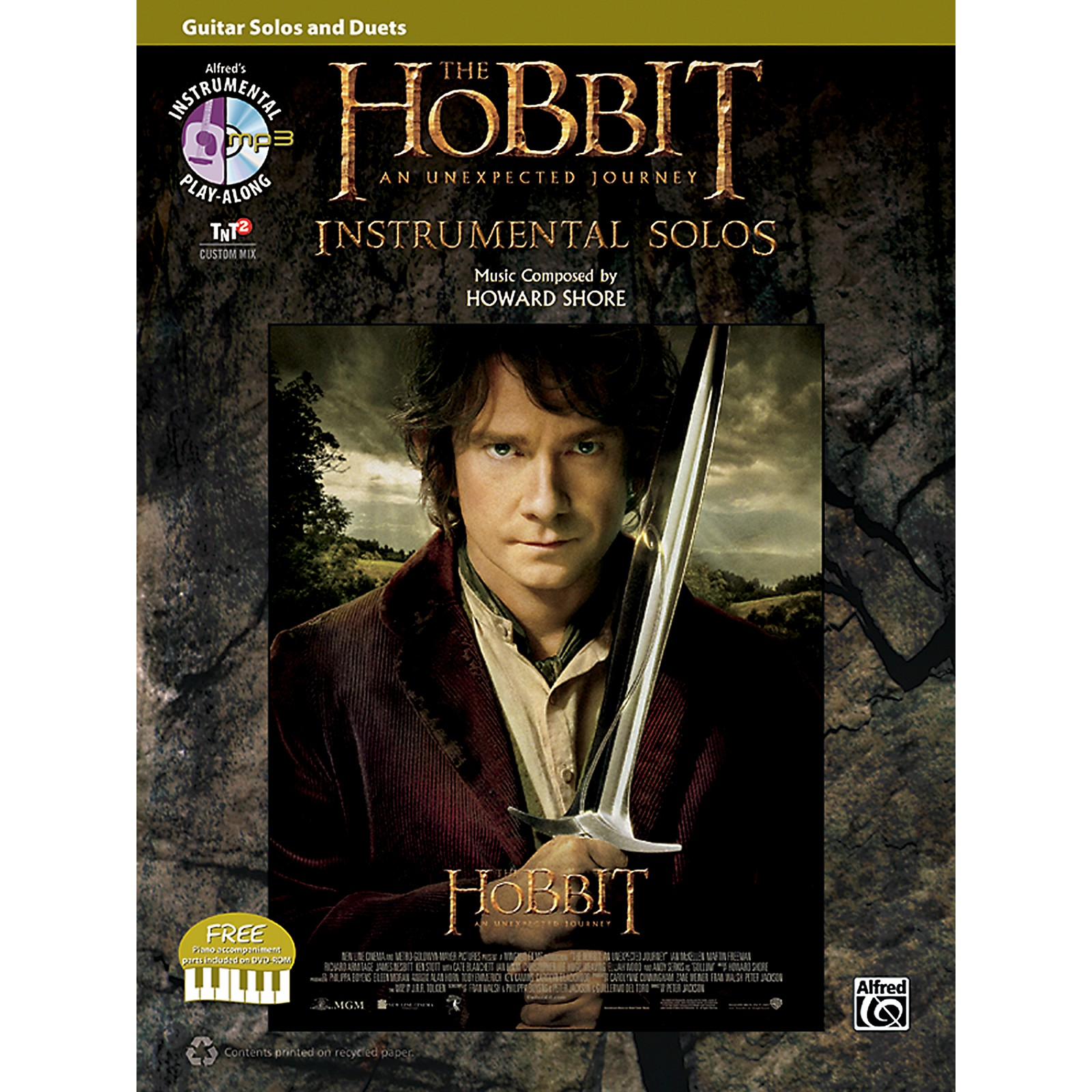 Alfred The Hobbit: An Unexpected Journey, Guitar Solos and Duets (Book/DVD)