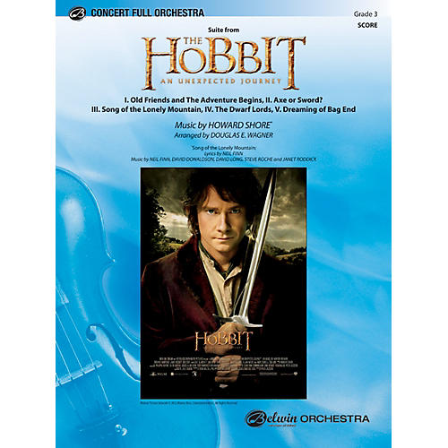 Alfred The Hobbit: An Unexpected Journey, Suite from Concert Full Orchestra Grade 3 Set