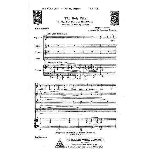 Boston Music The Holy City SATB Composed by Stephen Adams
