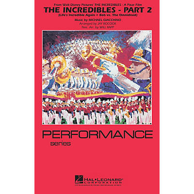 Hal Leonard The Incredibles - Part 2 Marching Band Level 4 Arranged by Jay Bocook