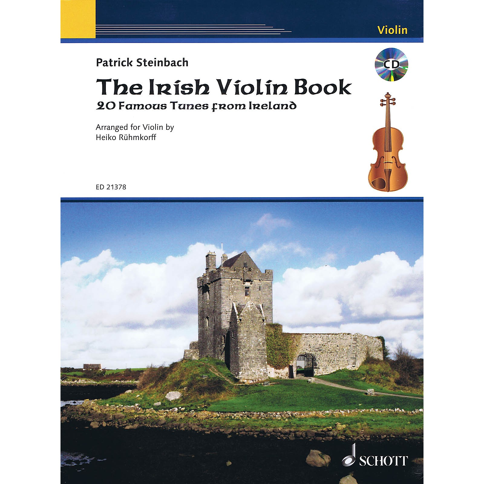 Schott The Irish Violin Book String Series Softcover with CD