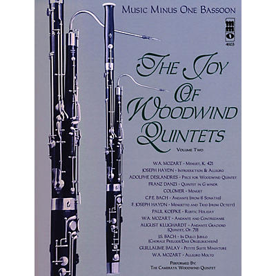 Music Minus One The Joy of Woodwind Quintets - Volume Two Music Minus One Series Softcover with CD Composed by Various