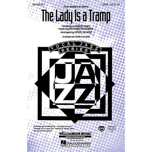 Hal Leonard The Lady Is a Tramp SATB arranged by Steve Zegree