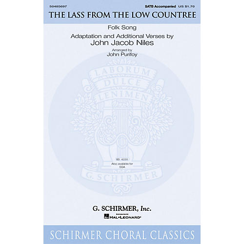 G. Schirmer The Lass from the Low Countree SATB arranged by John Purifoy