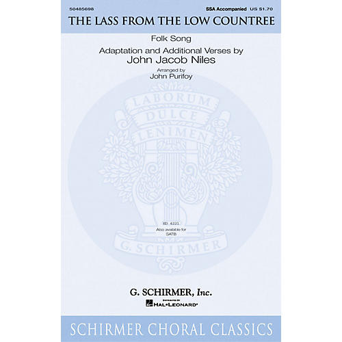 G. Schirmer The Lass from the Low Countree SSA arranged by John Purifoy