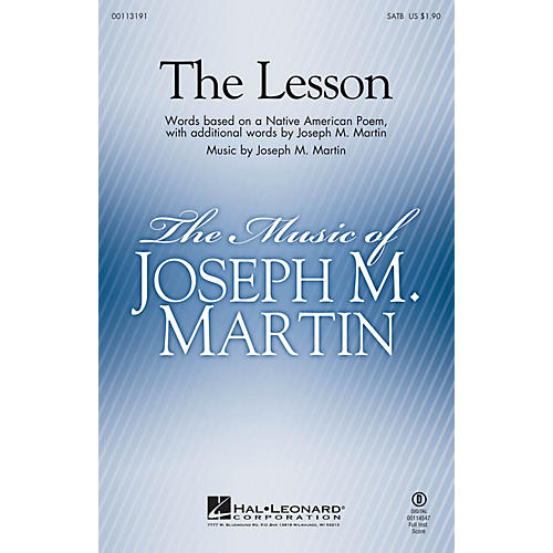 Hal Leonard The Lesson SATB composed by Joseph M. Martin