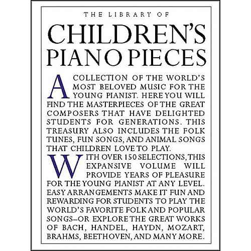 Music Sales The Library Of Children's Piano Pieces