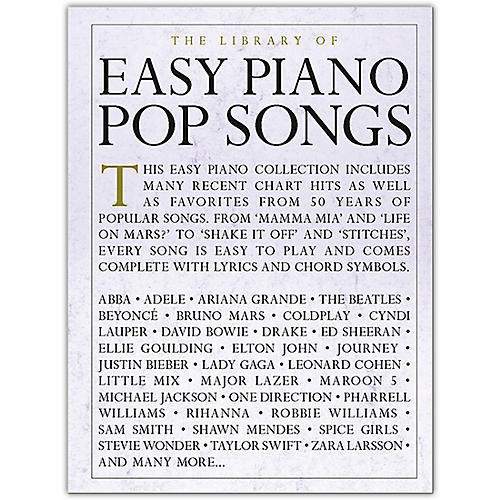 Music Sales The Library Of Easy Piano Pop Songs Musicians Friend