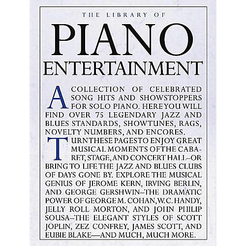 Music Sales The Library of Piano Entertainment Music Sales America Series Softcover