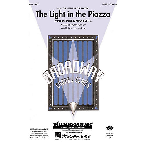 Hal Leonard The Light in the Piazza (from The Light in The Piazza) ShowTrax CD Arranged by John Purifoy