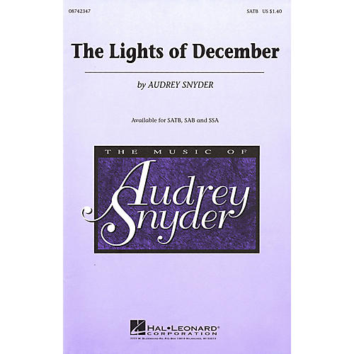 Hal Leonard The Lights of December SATB composed by Audrey Snyder