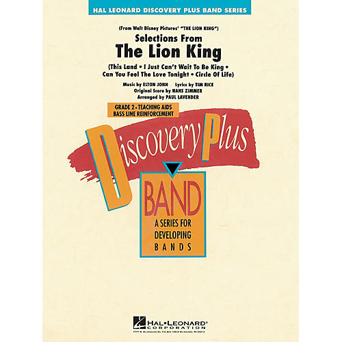 Hal Leonard The Lion King - Selections from - Discovery Plus Concert Band Series Level 2 arranged by Paul Lavender