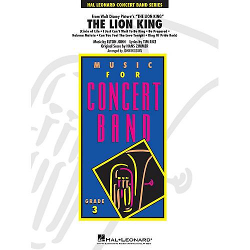 Hal Leonard The Lion King - Young Concert Band Series Level 3 arranged by John Higgins