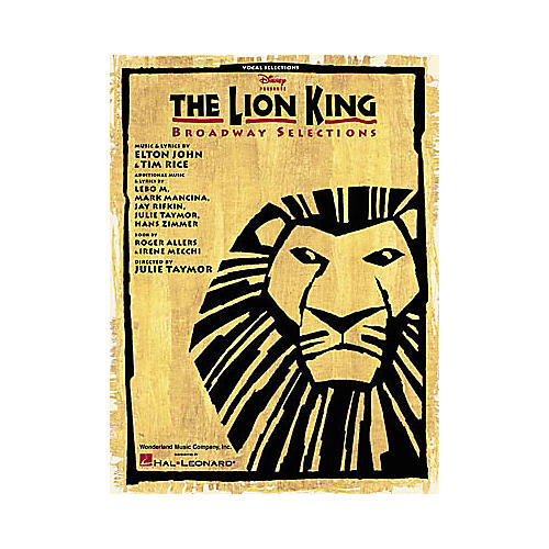 Hal Leonard The Lion King Broadway Selections Piano/Vocal/Guitar Songbook