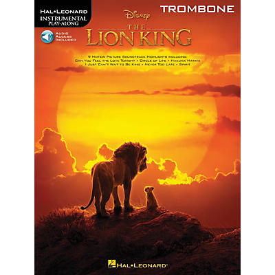 Hal Leonard The Lion King for Trombone Instrumental Play-Along Book/Audio Online