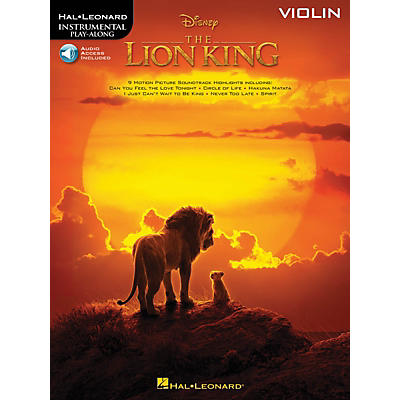 Hal Leonard The Lion King for Violin Instrumental Play-Along Book/Audio Online