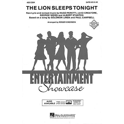 Hal Leonard The Lion Sleeps Tonight SATB arranged by Roger Emerson