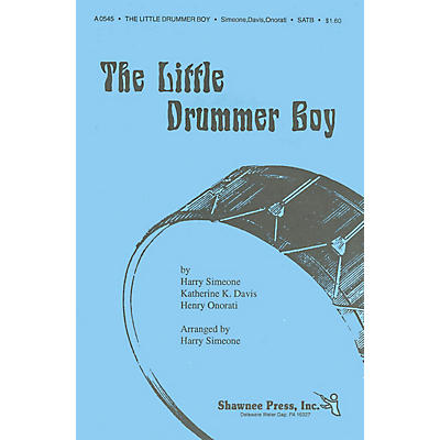 Shawnee Press The Little Drummer Boy TTBB Arranged by Harry Simeone