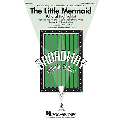 Hal Leonard The Little Mermaid (Choral Highlights) 2-Part Arranged by Mark Brymer