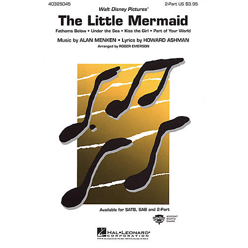 Hal Leonard The Little Mermaid (Medley) 2-Part arranged by Roger Emerson