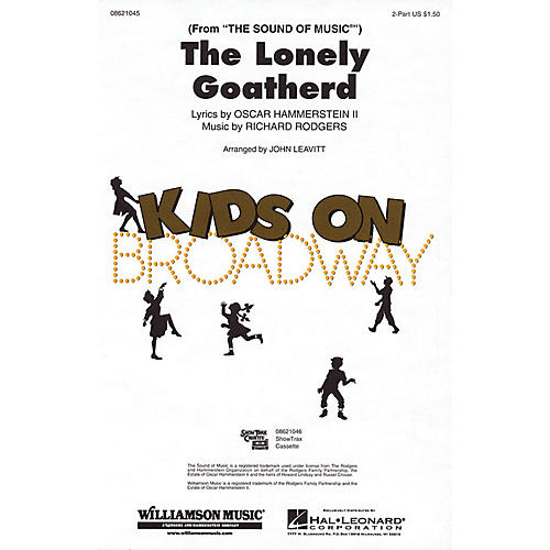 Hal Leonard The Lonely Goatherd (from The Sound of Music) 2-Part arranged by John Leavitt