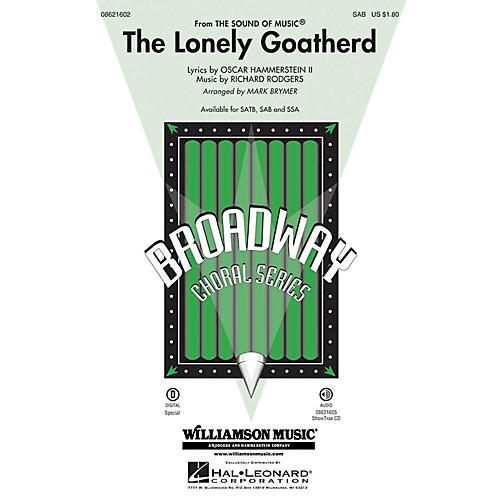 Hal Leonard The Lonely Goatherd (from The Sound of Music) SAB arranged by Mark Brymer