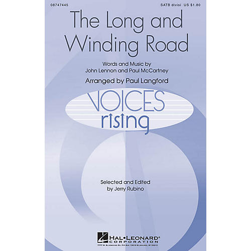 Hal Leonard The Long and Winding Road SATB Divisi by The Beatles arranged by Paul Langford