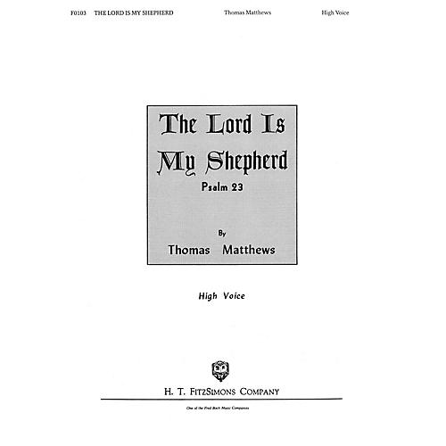 Hal Leonard The Lord Is My Shepherd (High Voice) composed by Matthews Tho