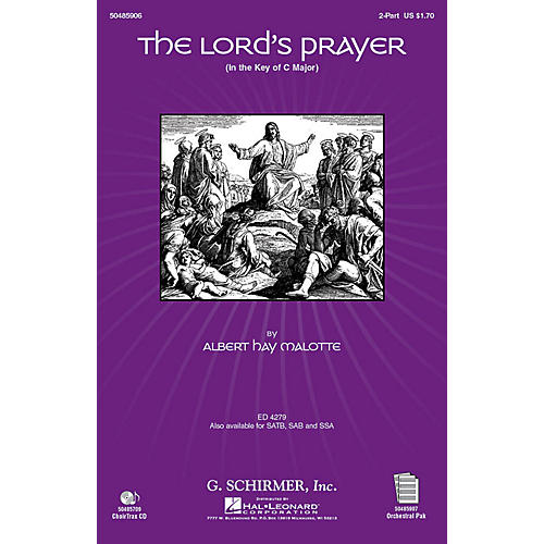 G. Schirmer The Lord's Prayer (in C, with Orchestra) 2-Part arranged by Janet Day