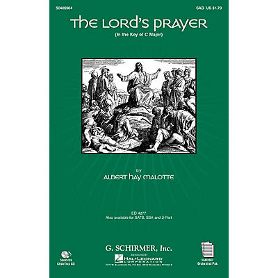 G. Schirmer The Lord's Prayer (in C, with Orchestra) SAB arranged by Janet Day