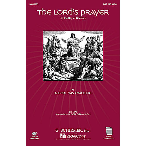 G. Schirmer The Lord's Prayer (in C, with Orchestra) SSA arranged by Janet Day