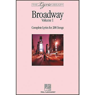 Hal Leonard The Lyric Library: Broadway Volume 1 Book