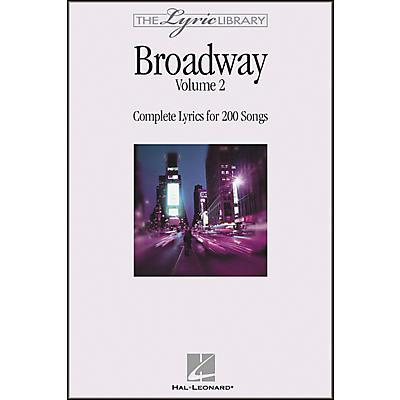 Hal Leonard The Lyric Library: Broadway Volume 2 Book