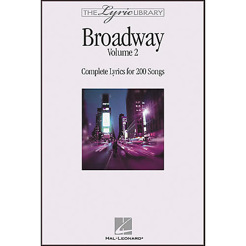 Hal Leonard The Lyric Library: Broadway Volume 2 Book