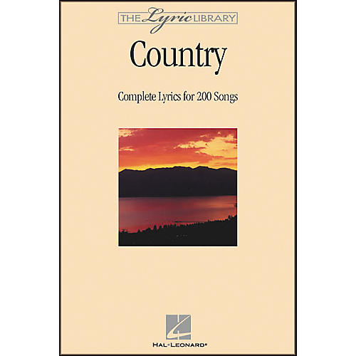 Hal Leonard The Lyric Library: Country Book