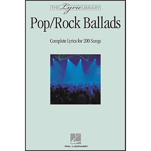 Hal Leonard The Lyric Library: Pop/Rock Ballads Book