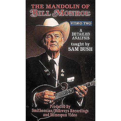 Homespun The Mandolin of Bill Monroe 2: A Detailed Analysis by Sam Bush (VHS)