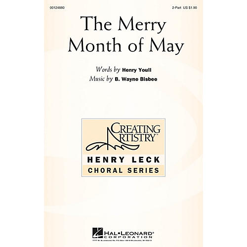 Hal Leonard The Merry Month of May 2-Part composed by B. Wayne Bisbee
