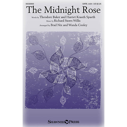 Shawnee Press The Midnight Rose SATB W/ VIOLIN arranged by Brad Nix