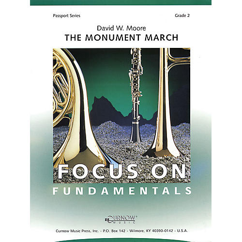 Curnow Music The Monument March (Grade 2 - Score Only) Concert Band Level 2 Composed by David Moore