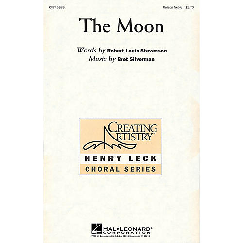 Hal Leonard The Moon Unison Treble composed by Bret Silverman