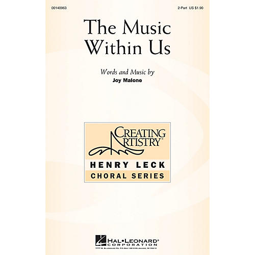 Hal Leonard The Music Within Us 2-Part composed by Joy Malone