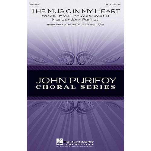 Hal Leonard The Music in My Heart SAB Composed by John Purifoy