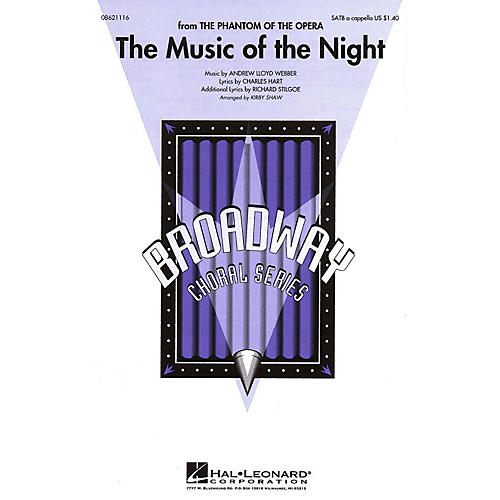 Hal Leonard The Music of the Night (from The Phantom of the Opera) SATB a cappella arranged by Kirby Shaw