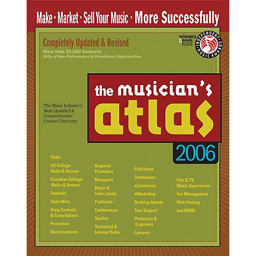 Music Resource Group The Musician's Atlas - 8th Edition - Updated for 2006 (Book)