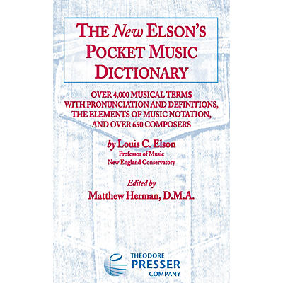Carl Fischer The New Elson's Pocket Music Dictionary