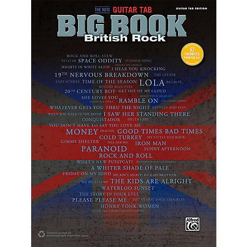 Alfred The New Guitar TAB Big Book British Rock