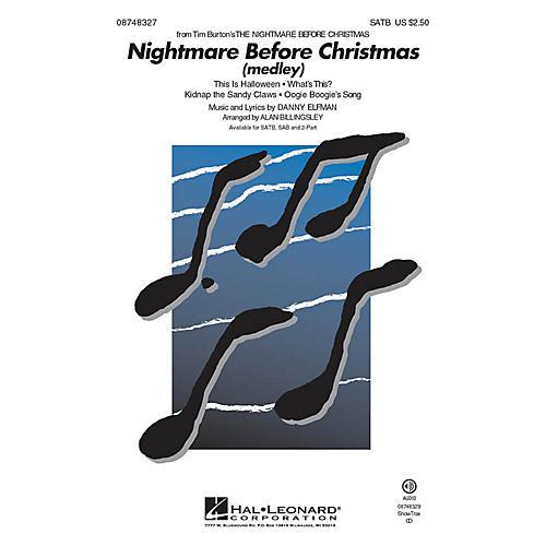 Hal Leonard The Nightmare Before Christmas (Choral Medley) SATB arranged by Alan Billingsley