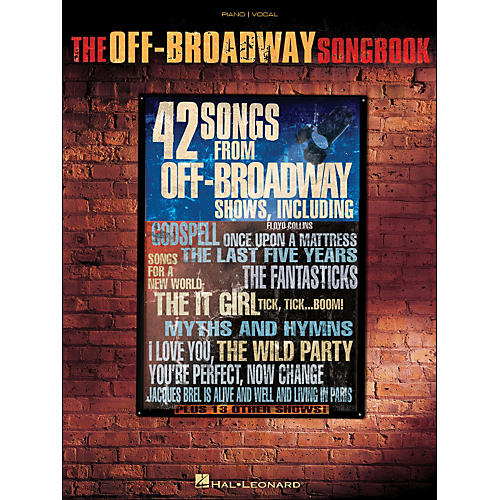 Hal Leonard The Off-Broadway Songbook arranged for piano, vocal, and guitar (P/V/G)