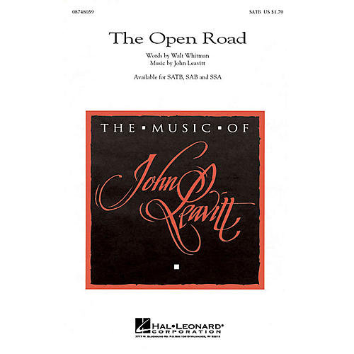 Hal Leonard The Open Road SAB Composed by John Leavitt